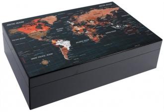 Хьюмидор «Карта мира» на 50 сигар
