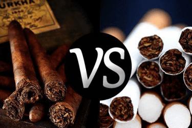 Отличия сигар от сигарет